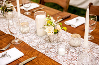 Flowers, Tables, and Food